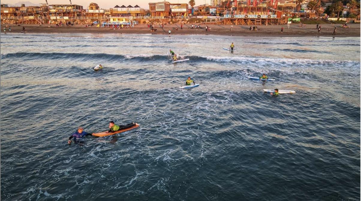 Clase Personalizada de Surf, Playa la Boca, Concón