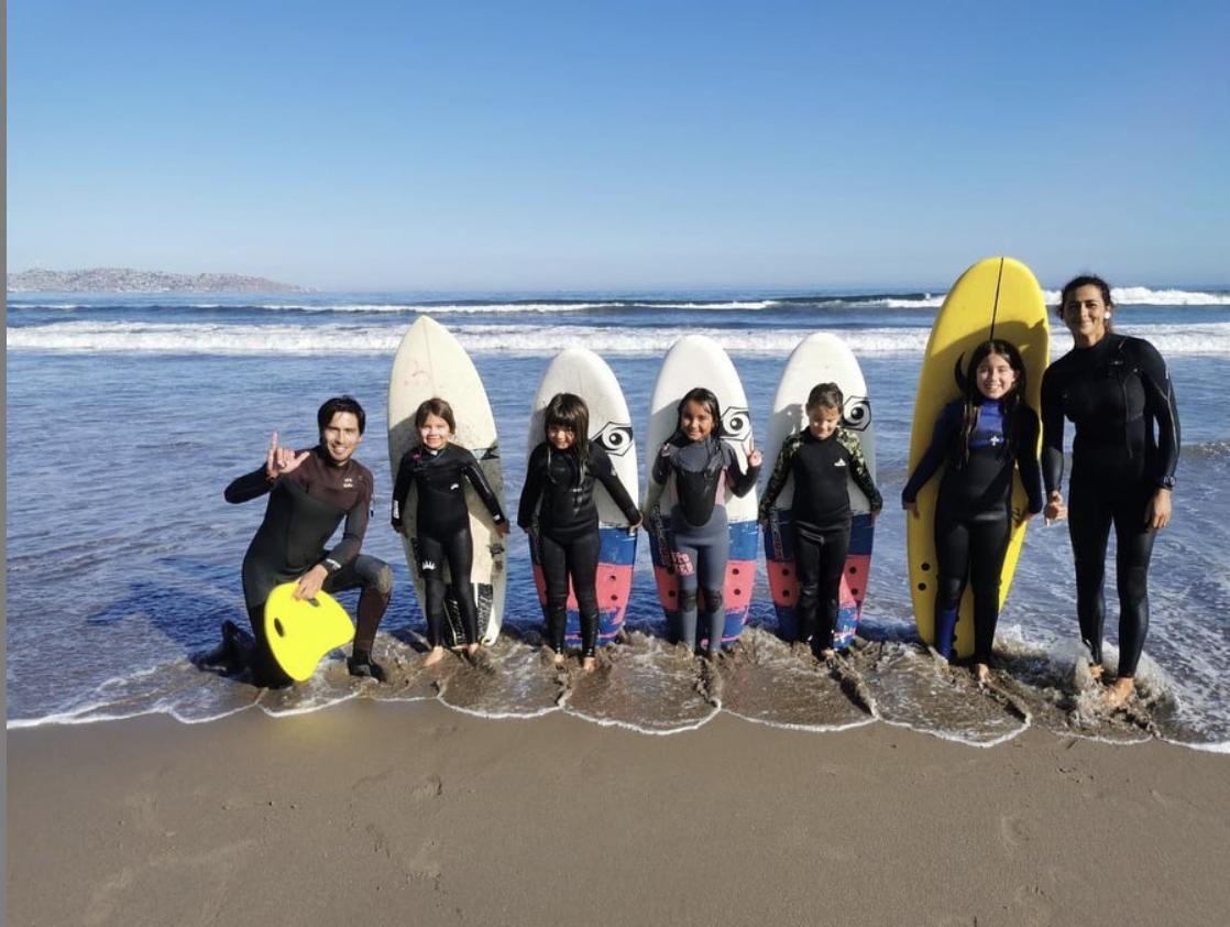 Clase de Surf Colectiva en La Serena