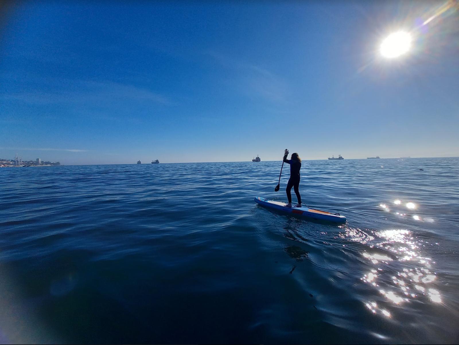 Clase de Stand-Up Paddle en Valparaíso
