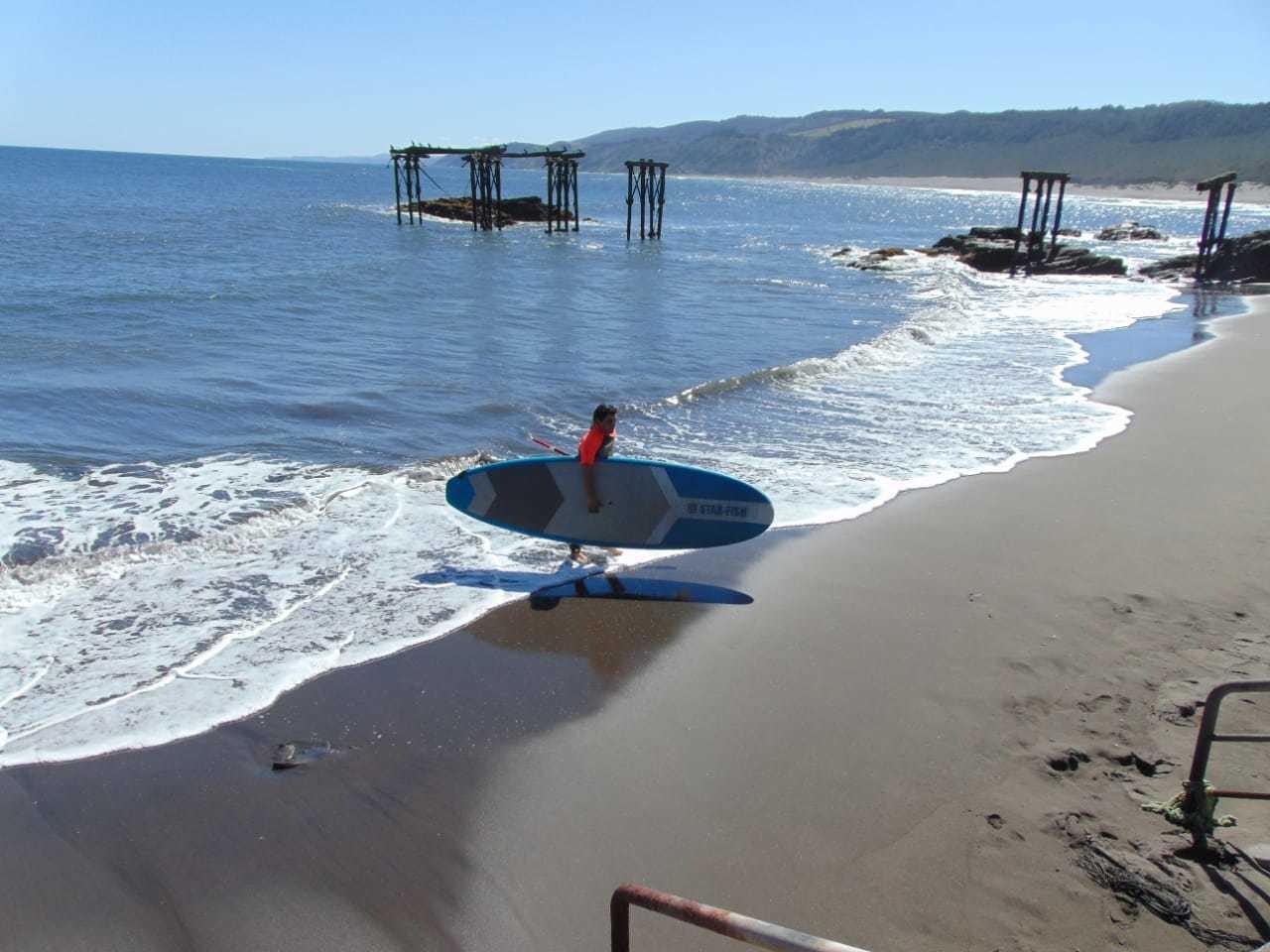 Clase de Sup-Surf en Llico, Vichuquén