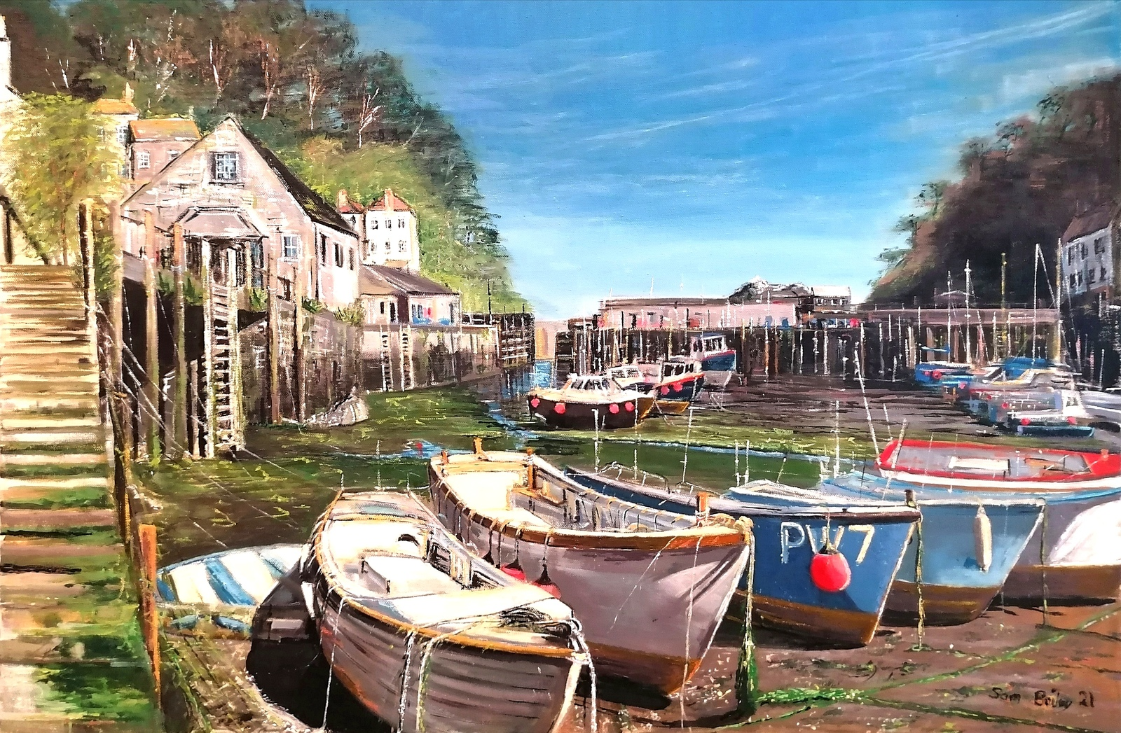 Polperro Harbour in the afternoon sun