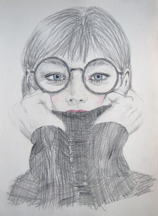 Selling: Girl with glasses