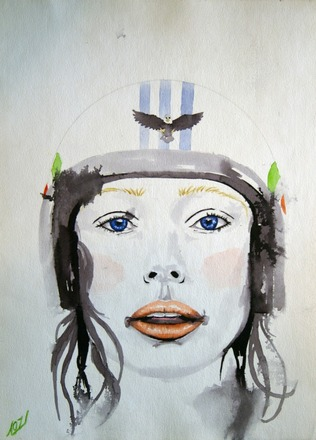 Selling: Girl with helmet