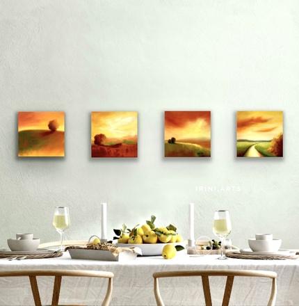 Selling: Fall landscapes set
